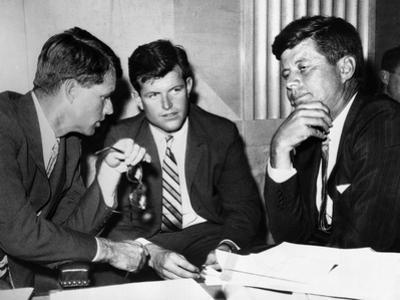 Three Kennedy Brothers at Rackets Hearing