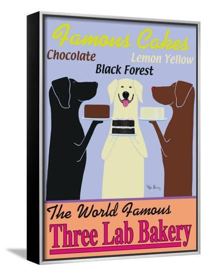Three Lab Bakery-Ken Bailey-Framed Canvas Print