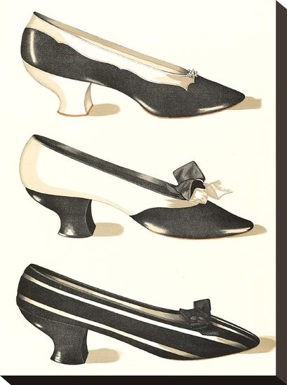 Three Medium Heeled Shoes-Found Image Press-Stretched Canvas