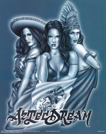 Three Mujeres (Aztec Dream, 3 Women) Art Poster Print