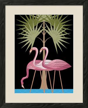 Three Pink Flamingos