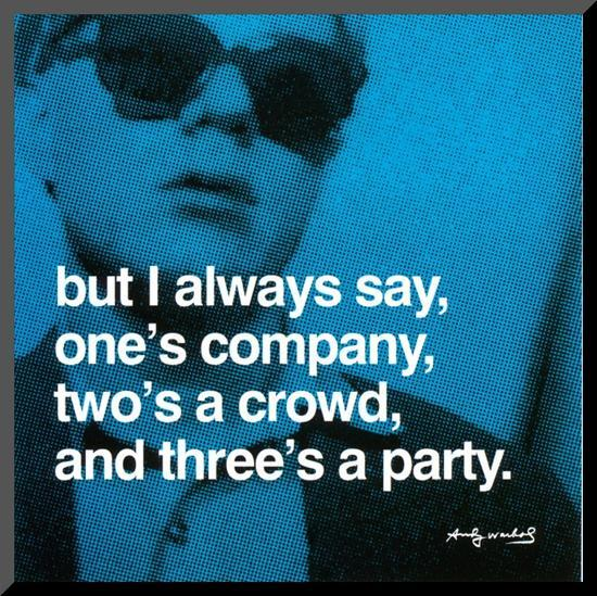 Three's a Party--Mounted Print