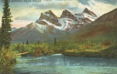 Three Sisters, Near Banff, Alberta