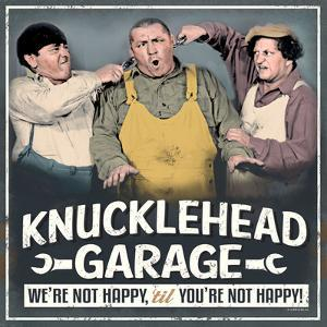 Three Stooges Garage Tin Sign