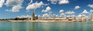 Three Towers at the Port of La Rochelle, Charente-Maritime, Poitou-Charentes, France