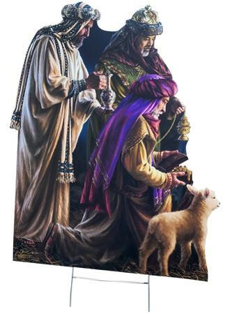 Three Wise Men Outdoor with Yard Stake