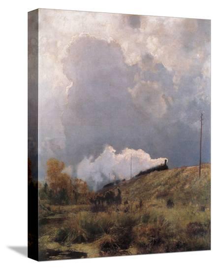 Through the Heathland-Eugen Bracht-Stretched Canvas