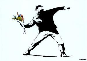 Throwing Flowers Art Print Poster