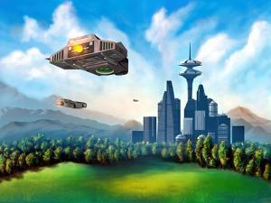 Futuristic City by Thufir