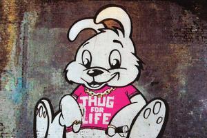 Thug For Life Bunny Rabbit Graffiti