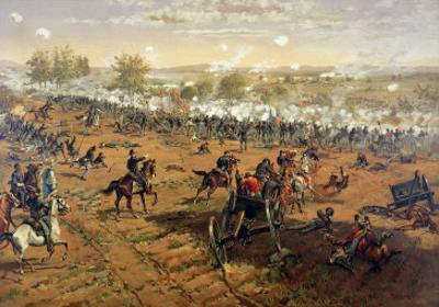 Battle of Gettysburg, 1863, Printed by L. Prang and Co., 1887