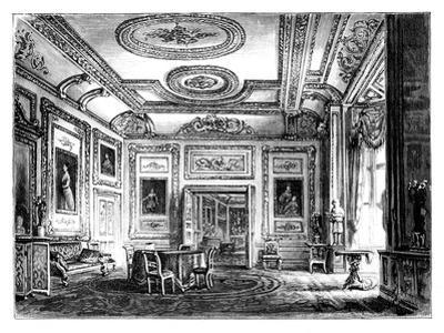 Thw White Drawing Room, Windsor Castle, C1888
