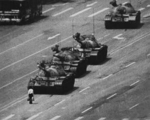 Tiananmen Square Man and Tanks Glossy Photo Photograph Print