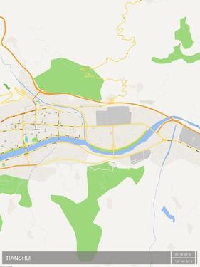 Tianshui, China Map