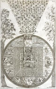 Tibetan Cosmology, 18th Century Artwork