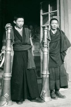 Tibetans with Trumpets