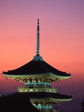 Kiyomizu Temple at Sunset by Tibor Bogn?r