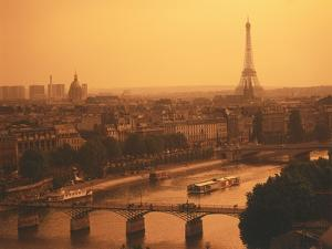 Paris and Eiffel Tower by Tibor Bogn?r