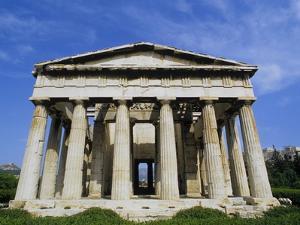 Temple of Hephaestus in Agora by Tibor Bogn?r