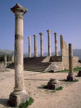 Volubilis Roman Ruins in Morocco by Tibor Bogn?r
