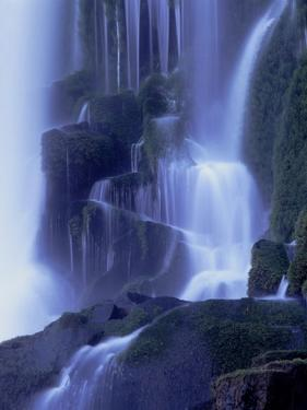 Waterfall in Iguazu National Park by Tibor Bogn?r