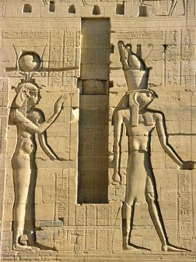 Detail of Isis and Horus from Sculptural Program of the Temple of Isis at Philae by Tibor Bognár