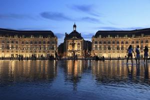 Place De La Bourse, France by Tibor Bognar