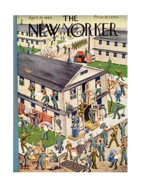 The New Yorker Cover - April 29, 1944 by Tibor Gergely