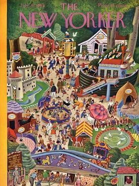 The New Yorker Cover - July 29, 1944 by Tibor Gergely