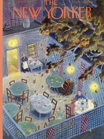 The New Yorker Cover - September 24, 1949 by Tibor Gergely
