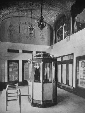 Ticket booth and lobby, World Theater, Omaha, Nebraska, 1925