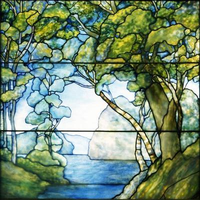 A Leaded Glass Landscape Window, 1916