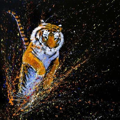 Tiger Leaping