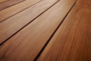 Detail of Teak Wood Table by tihism