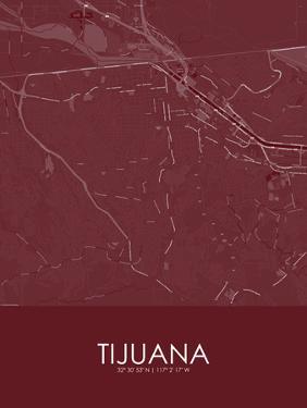 Tijuana, Mexico Red Map