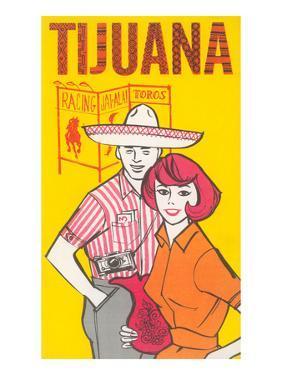 Tijuana Travel Poster with Gringos