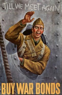Till We Meet Again Buy War Bonds WWII War Propaganda Art Print Poster