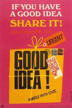 If You Have a Good Idea Share It! Send it to Your Local JPC by Tilley G