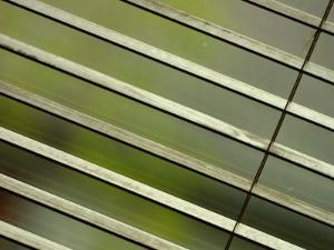 Tilted and Cropped View of Venetian Blind