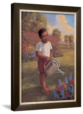 Child with Watering Can by Tim Ashkar