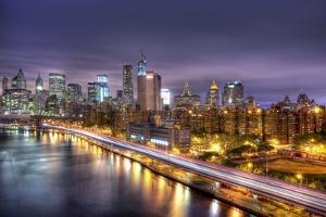 Lower Manhattan at Night by Tim Drivas Photography