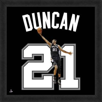 Tim Duncan, Spurs photographic representation of the player's jersey