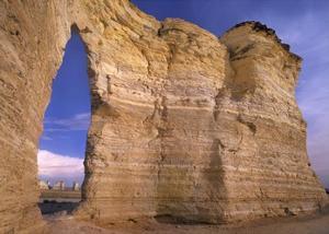 Arch in Monument Rocks National Landmark, Kansas by Tim Fitzharris