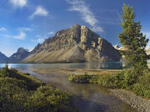 Crowfoot Mountain, Bow Lake, Banff National Park, Alberta by Tim Fitzharris