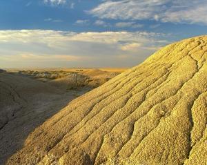 Detail of erosional feature, Badlands National Park, South Dakota by Tim Fitzharris