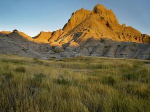 Eroded Butte Peak, Badlands National Park, South Dakota by Tim Fitzharris