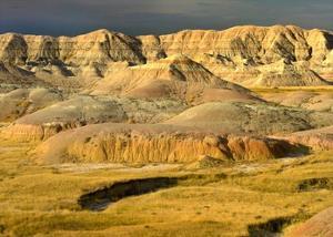 Eroded buttes, Badlands National Park, South Dakota by Tim Fitzharris