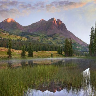Grand Turk at sunrise, San Juan Mountains, Colorado by Tim Fitzharris