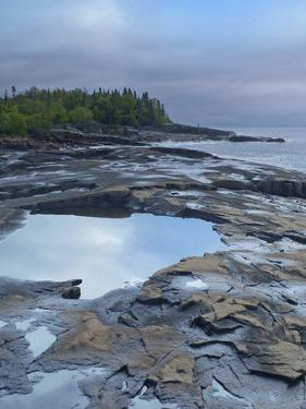 Lake Superior at Artists Point Grand Marais, Minnesota by Tim Fitzharris