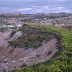 Landscape of Badlands National Park, South Dakota by Tim Fitzharris